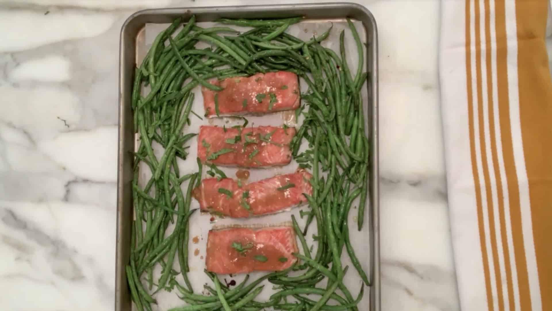 Miso sheet pan salmon