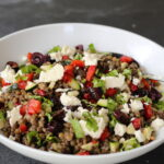 lentils, salad, greek