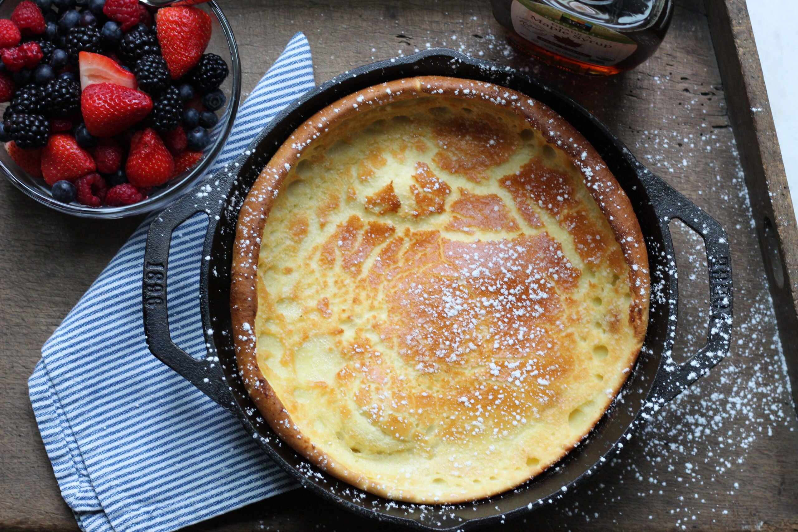 Pancake, Breakfast, Dutch Baby Pancake, Dessert, Baking, Recipe