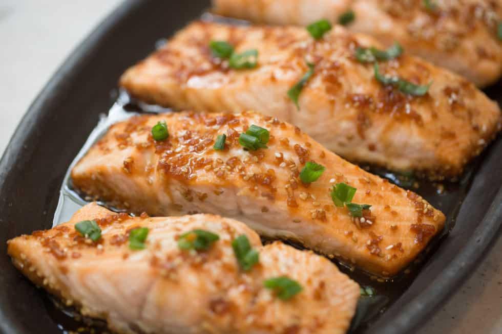 Dinner, Salmon, Soy Vay, Asian, Teriyaki, Quick & Easy