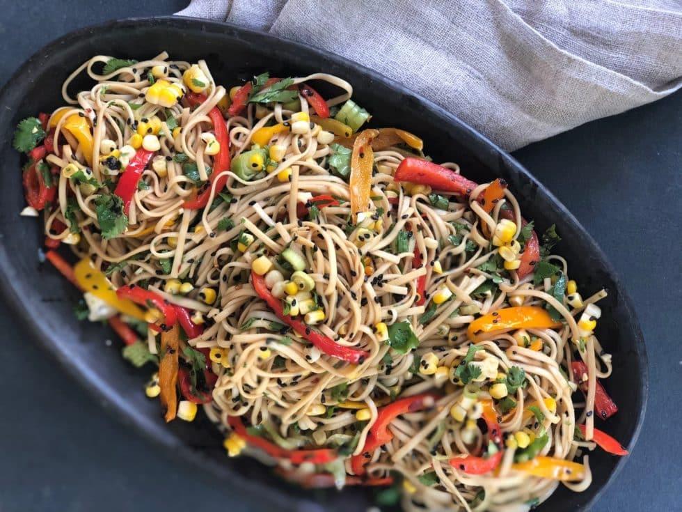 Whole Wheat Udon Salad