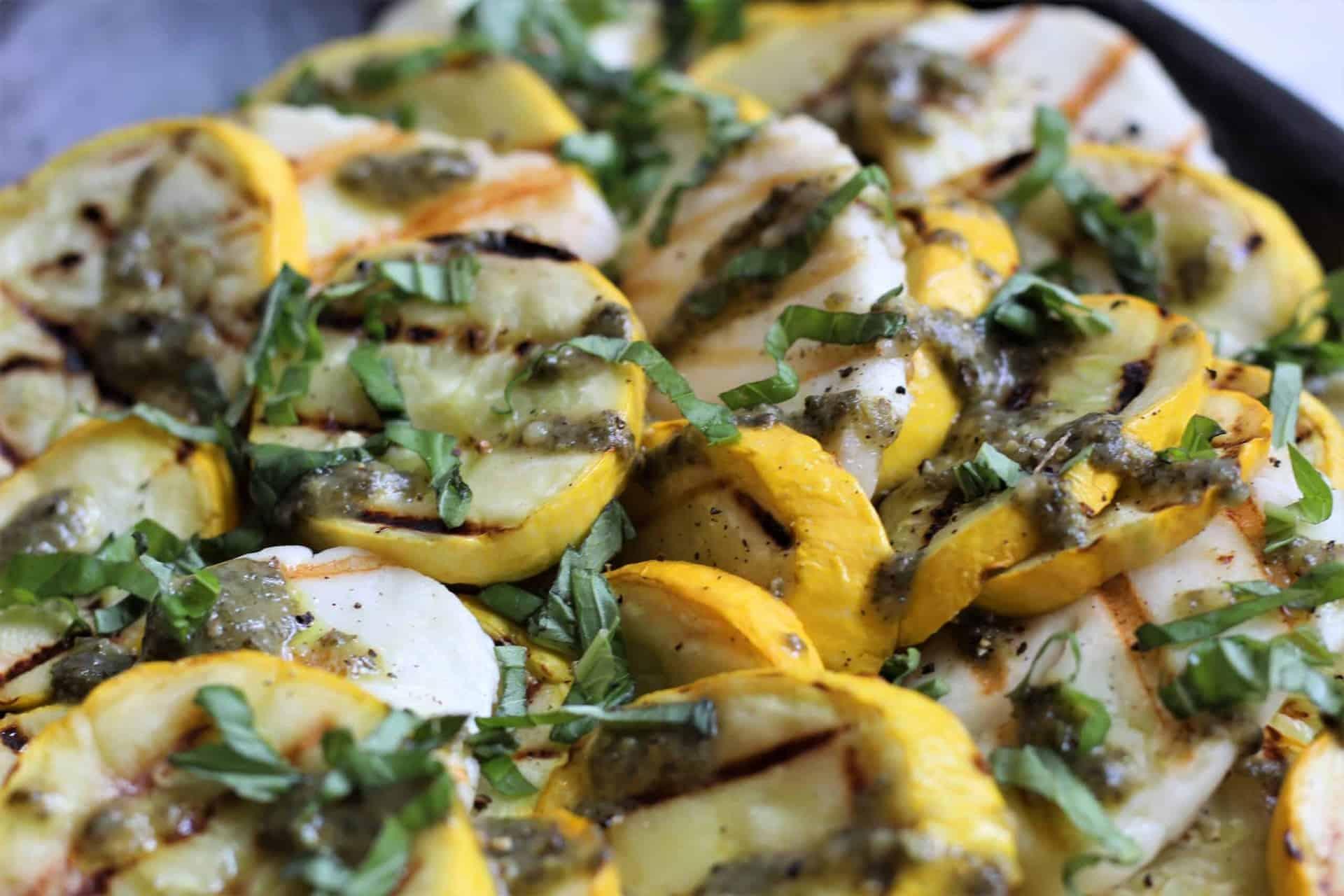Vegetarian, Gluten-Free, Salad, Summer, Squash, Halloumi, Zucchini, Side
