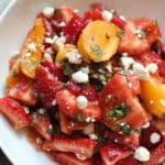 Heirloom Tomatoes and Strawberry Salad
