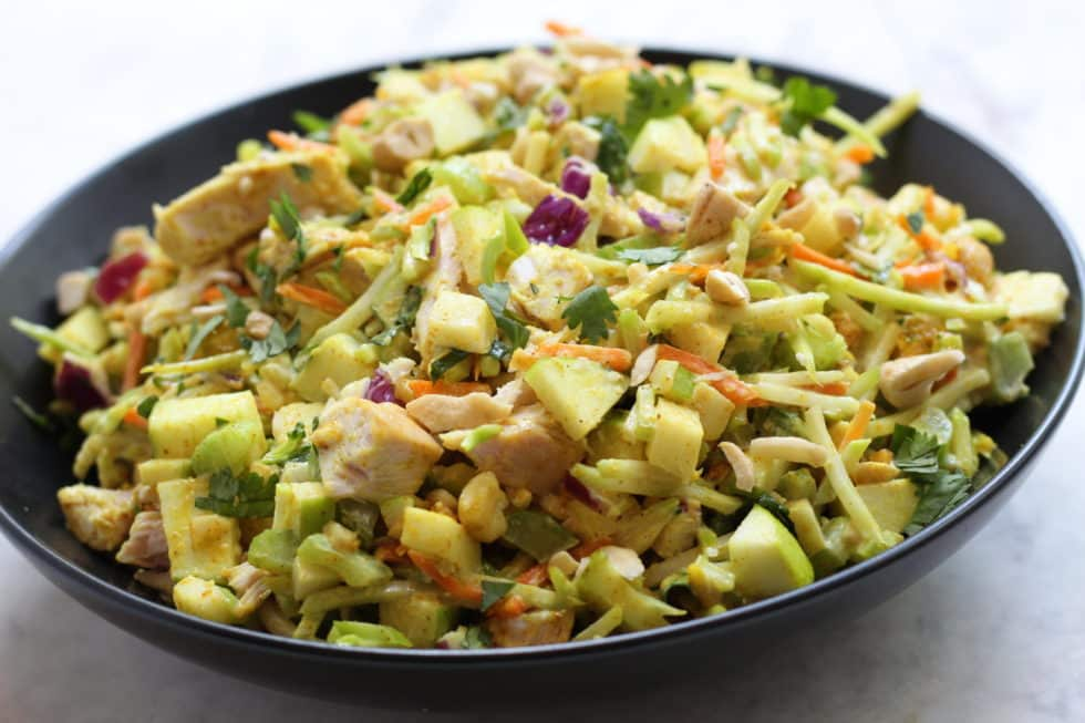 Chicken, Salads, Quick & Easy, Side Dishes, Fall, Apples, Curry, Gluten-Free