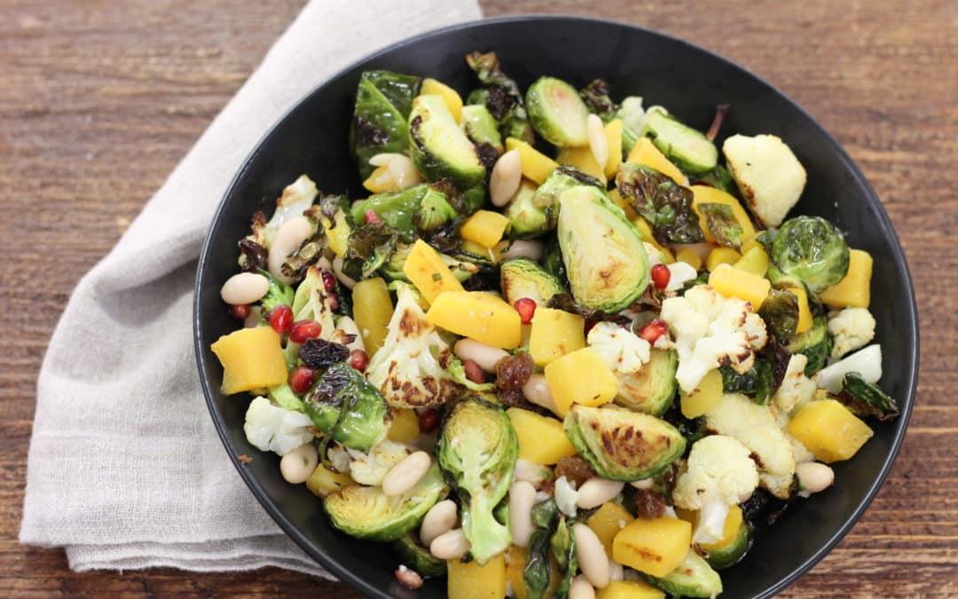 Roasted Autumn Salad with Horseradish Vinaigrette