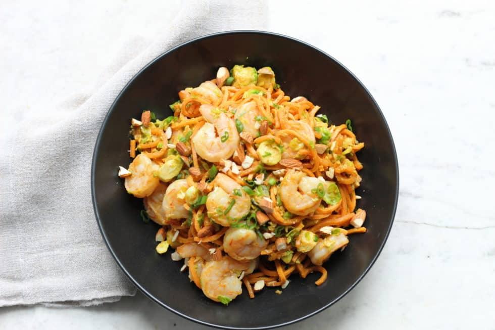Recipe, Seafood, Noodles, Dinner, Lunch, Shrimp, Sweet Potato