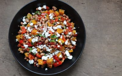 Black Eyed Pea Salad with Butternut Squash and Goat Cheese