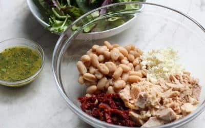 Tuna and White Bean Salad with Sun-Dried Tomatoes