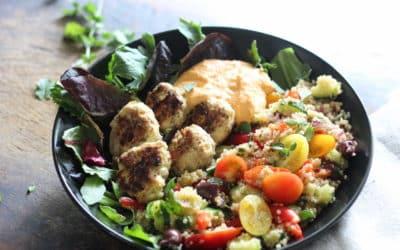 Greek Meatballs with Mediterranean Quinoa