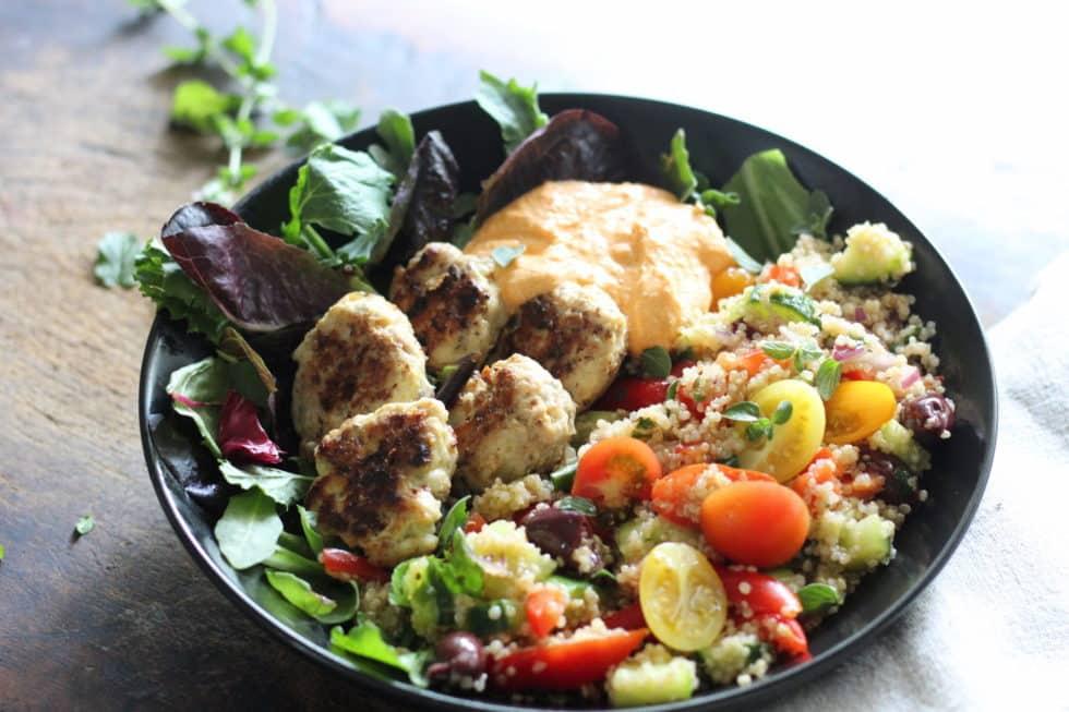Bowls, Quinoa, Turkey, Greek, Summer, Dinner