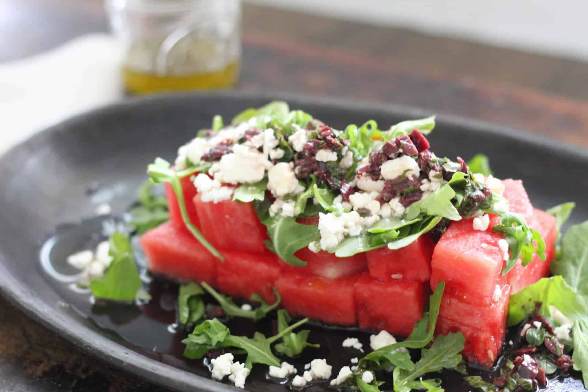 Salads, Watermelon, Summer, Gluten-Free, Vegetarian, Quick & Easy, Olives