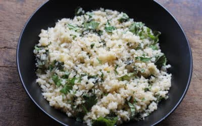 Garlic Herb Cauliflower Rice
