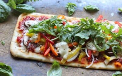 Vegetable Flatbread Pizza