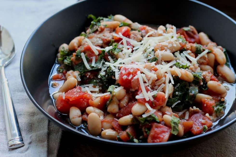 Turkey, Kale, and White Bean Soup