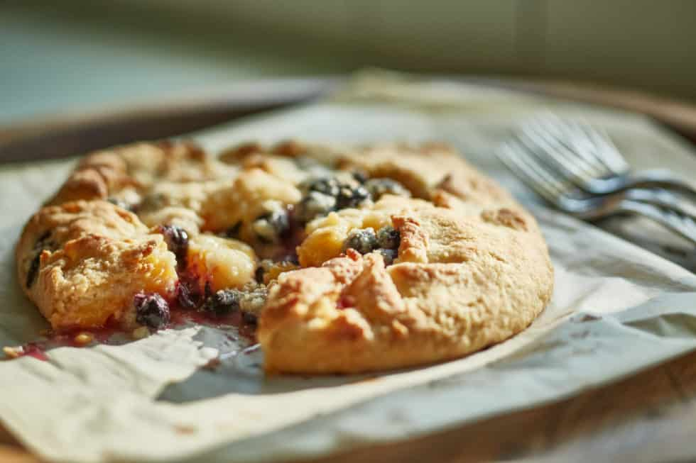 Desserts, Peaches, Blueberries, Quick & Easy, Summer