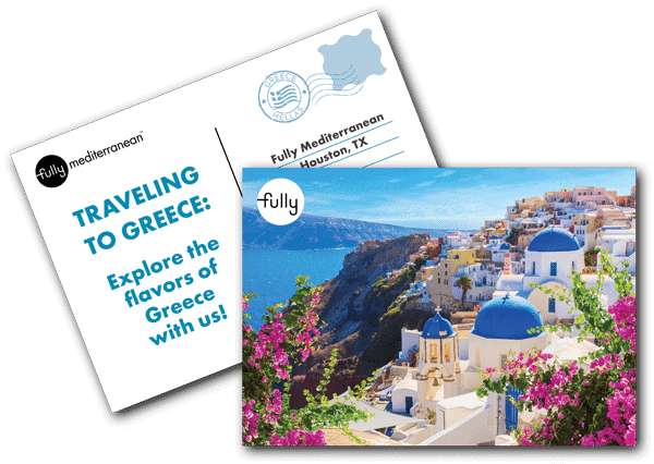 Traveling to greece explore the flavors of greece postcard