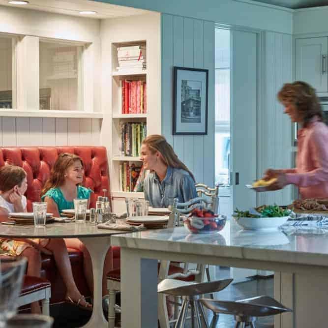 Pam In Her Kitchen Serving Grandchildren