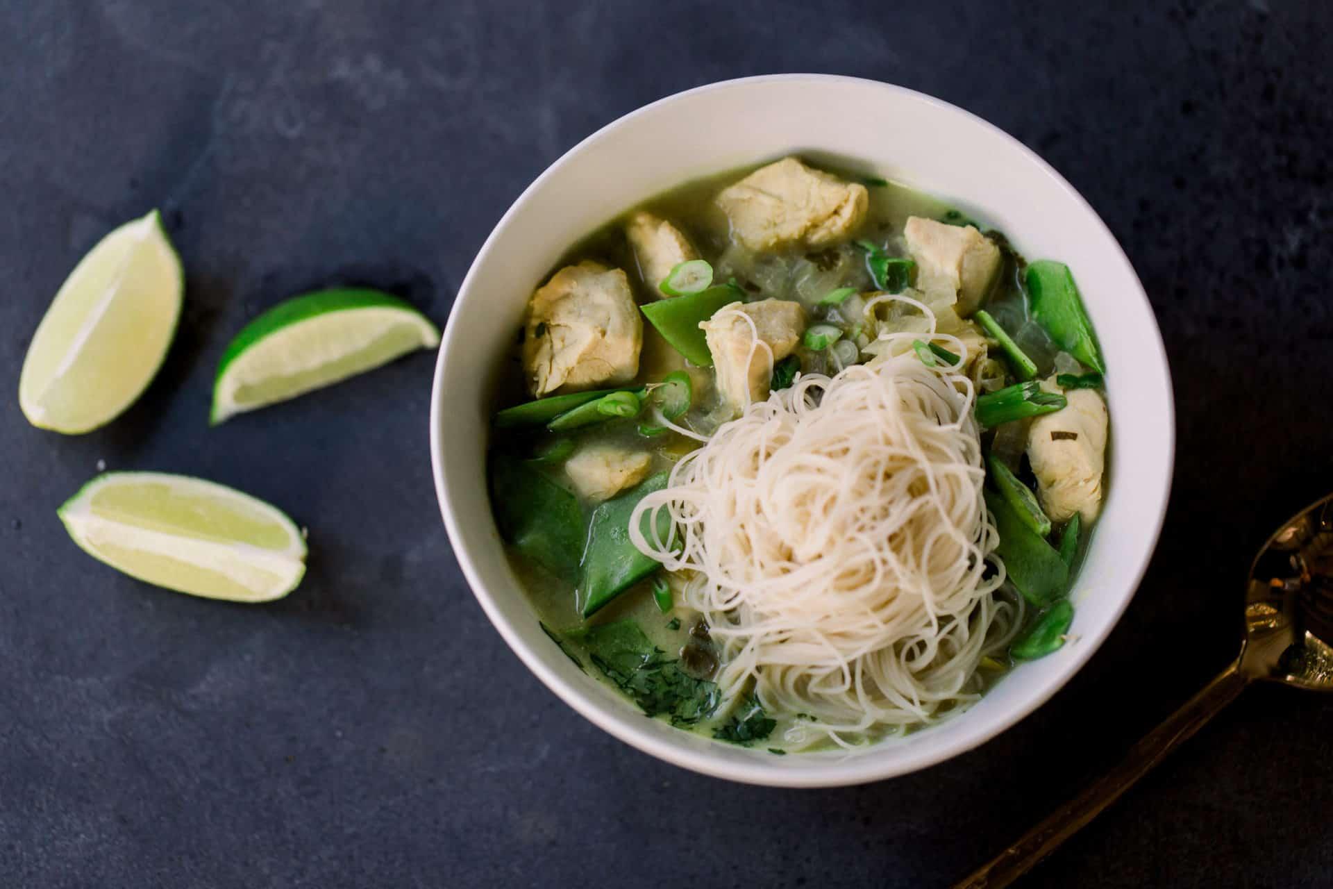 Soup, Winter, Chicken, Thai, One Pot