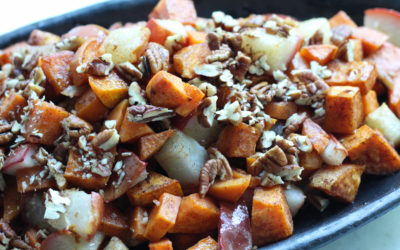 Roasted Sweet Potatoes and Pears