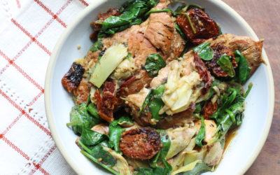 Slow Cooker Chicken with Sun Dried Tomatoes