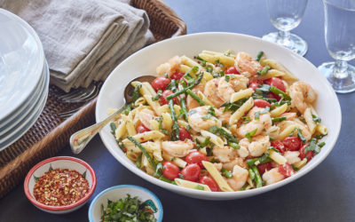 Simple Shrimp and Asparagus Pasta