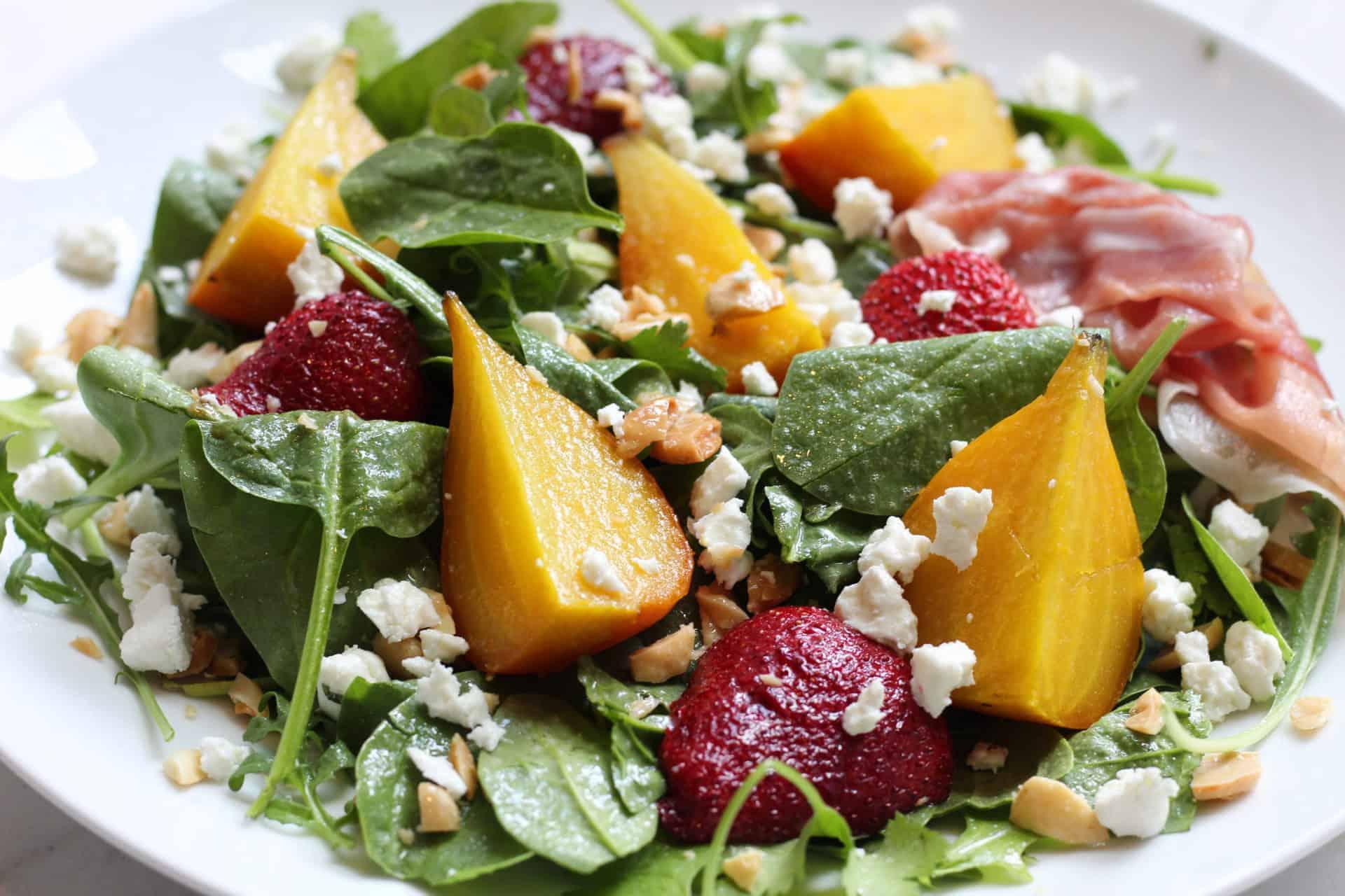 goldenbeetandstrawberrysalad