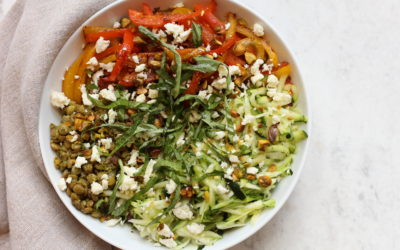 Green Lentil Bowl with Pistachio Pesto