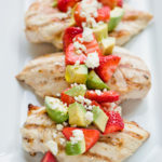 grilled chicken with strawberry feta salsa