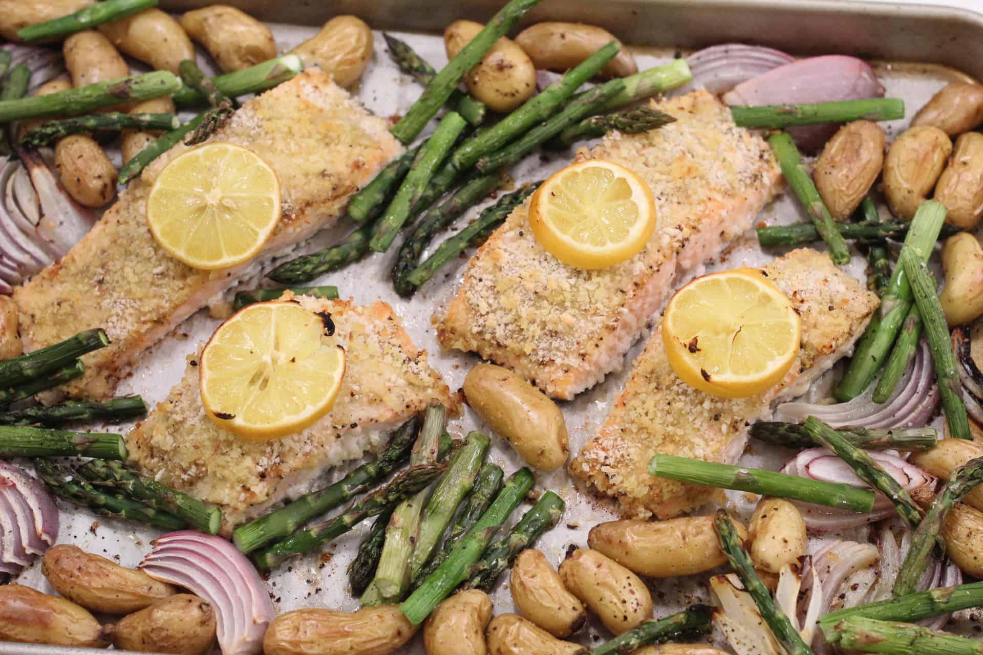 Salmon, Seafood, Fish, Sheet Pan, Quick & Easy, Spring, Asparagus, Potatoes, Dinner