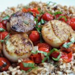 seared scallops with fresh cherry tomato sauce
