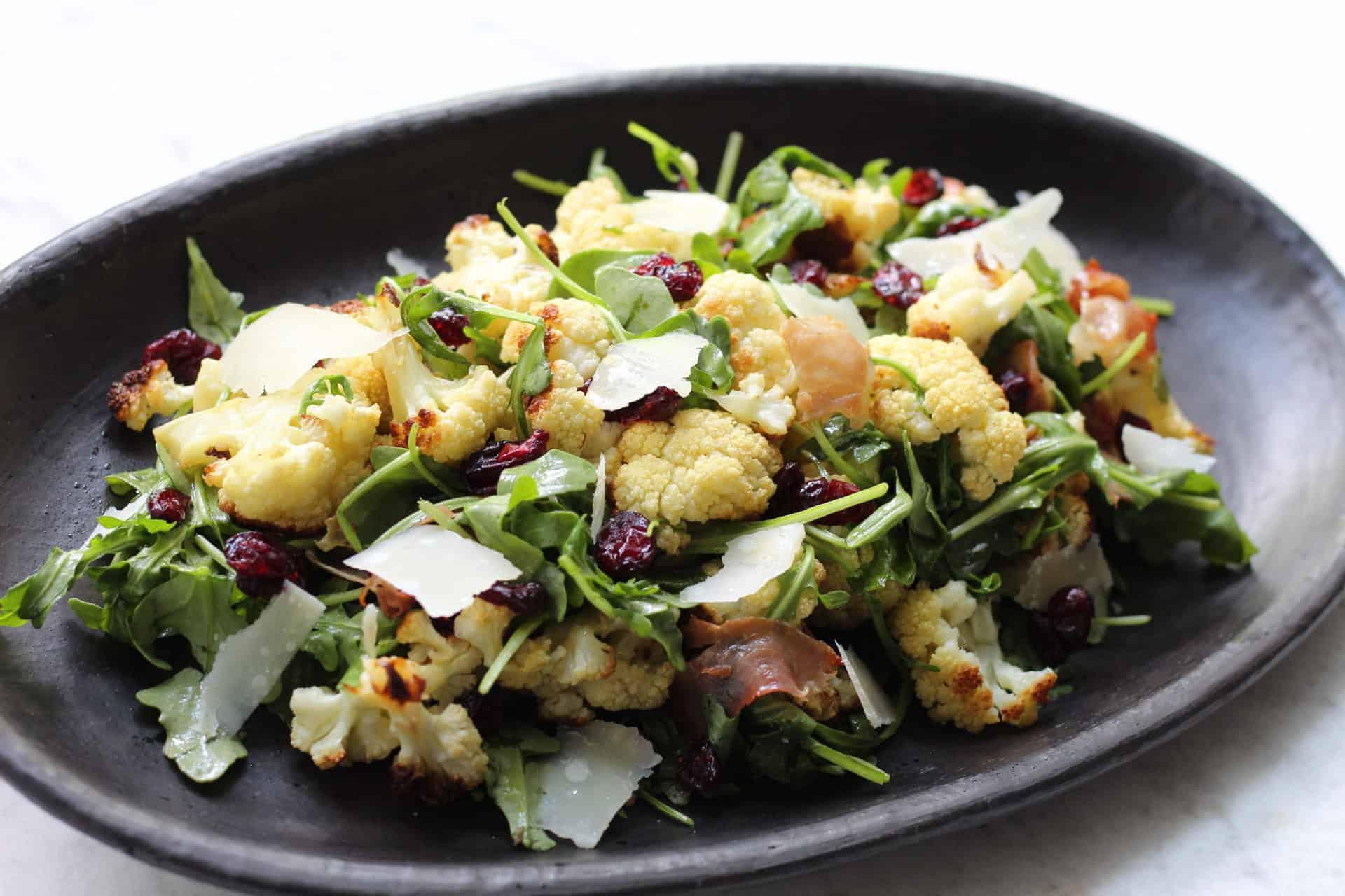 simple autumn roasted cauliflower