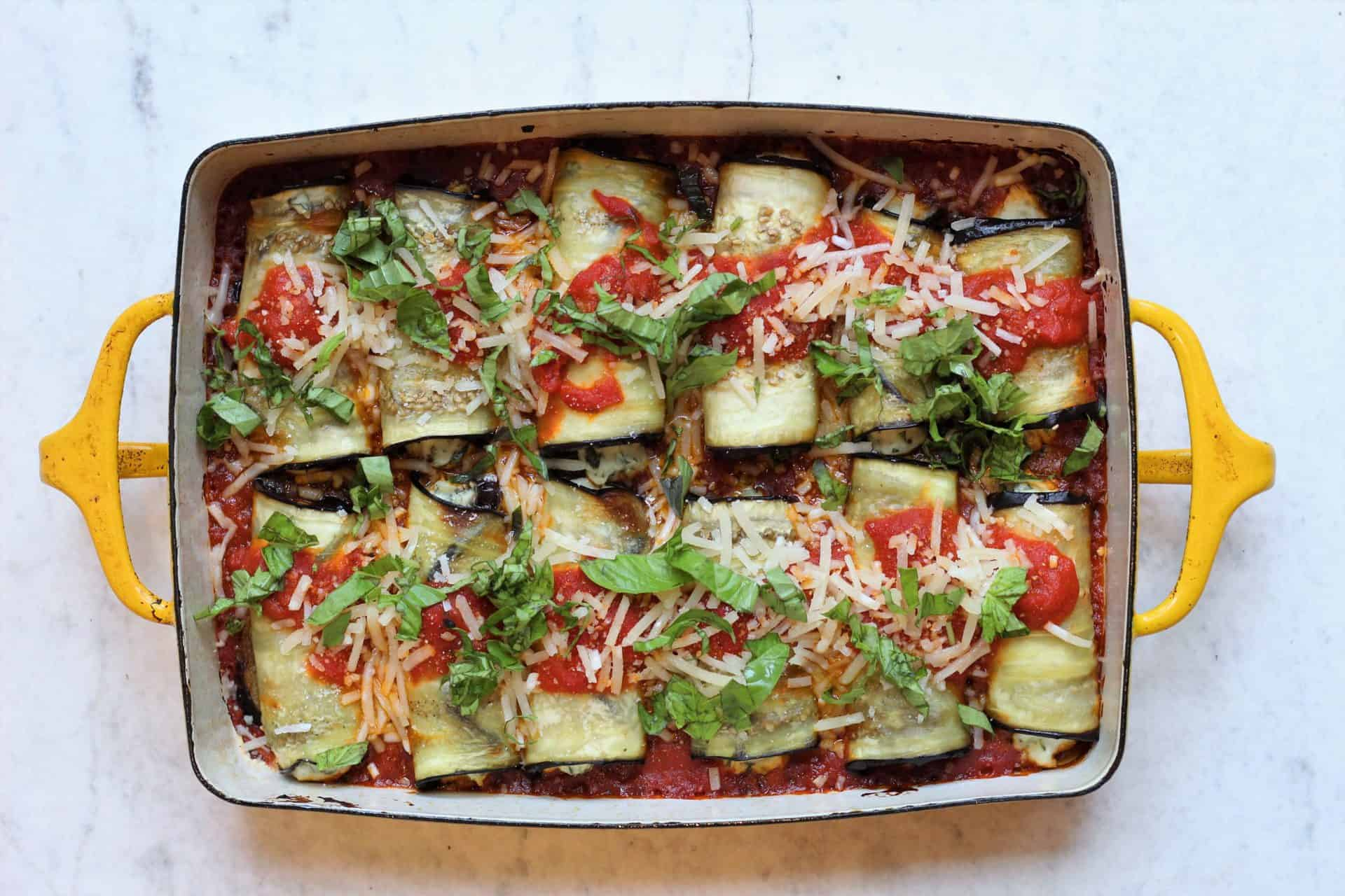 simple eggplant rollups