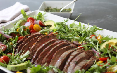 Grilled Flank Steak Salad with Chimichurri Sauce