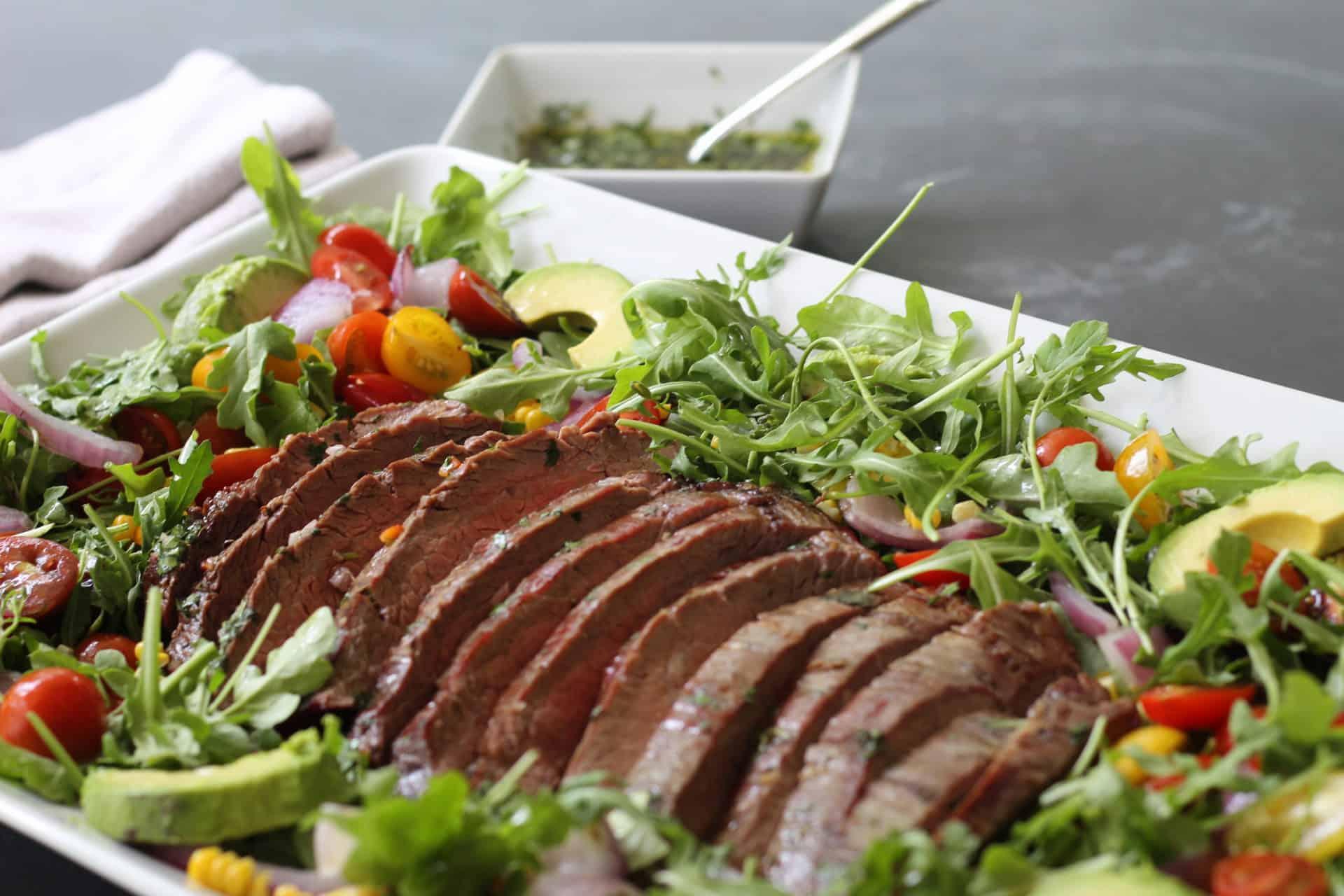 Salads, Summer, Steak, Meat, Grilled