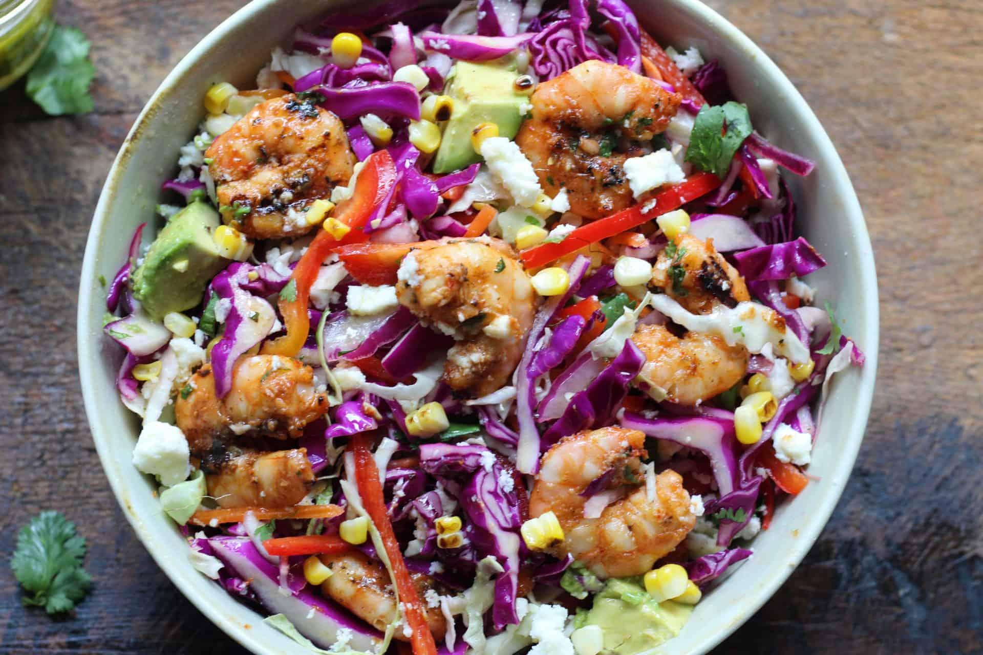 Salads, Bowls, Shrimp, Seafood, Gluten-Free, Summer, Grilling