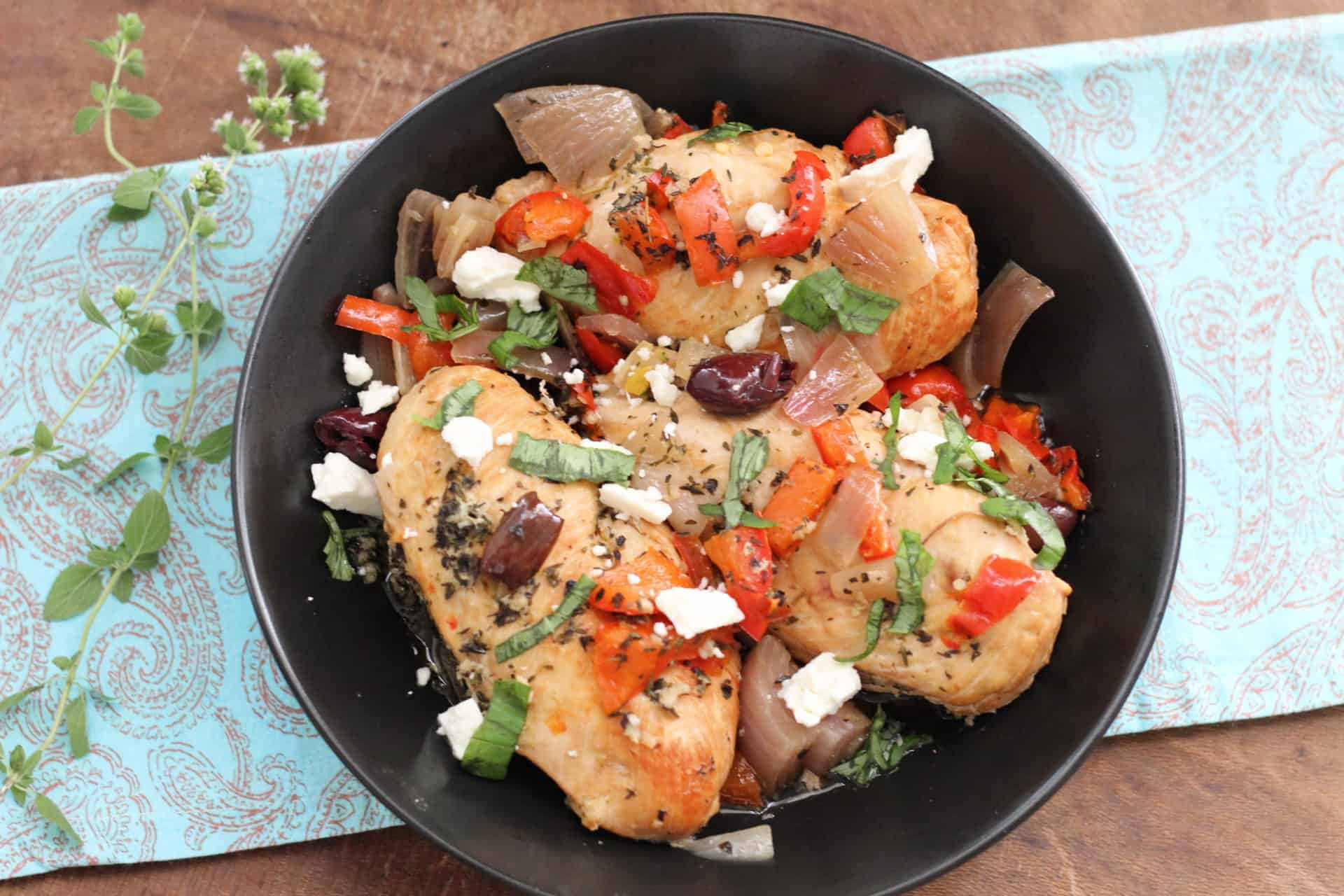 Dinner, Gluten Free, Quick & Easy, Greek, Mediterranean, Mediterranean diet, Chicken, Slow Cooker