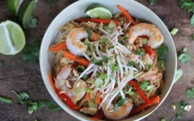 Spaghetti Squash Pad Thai with Shrimp
