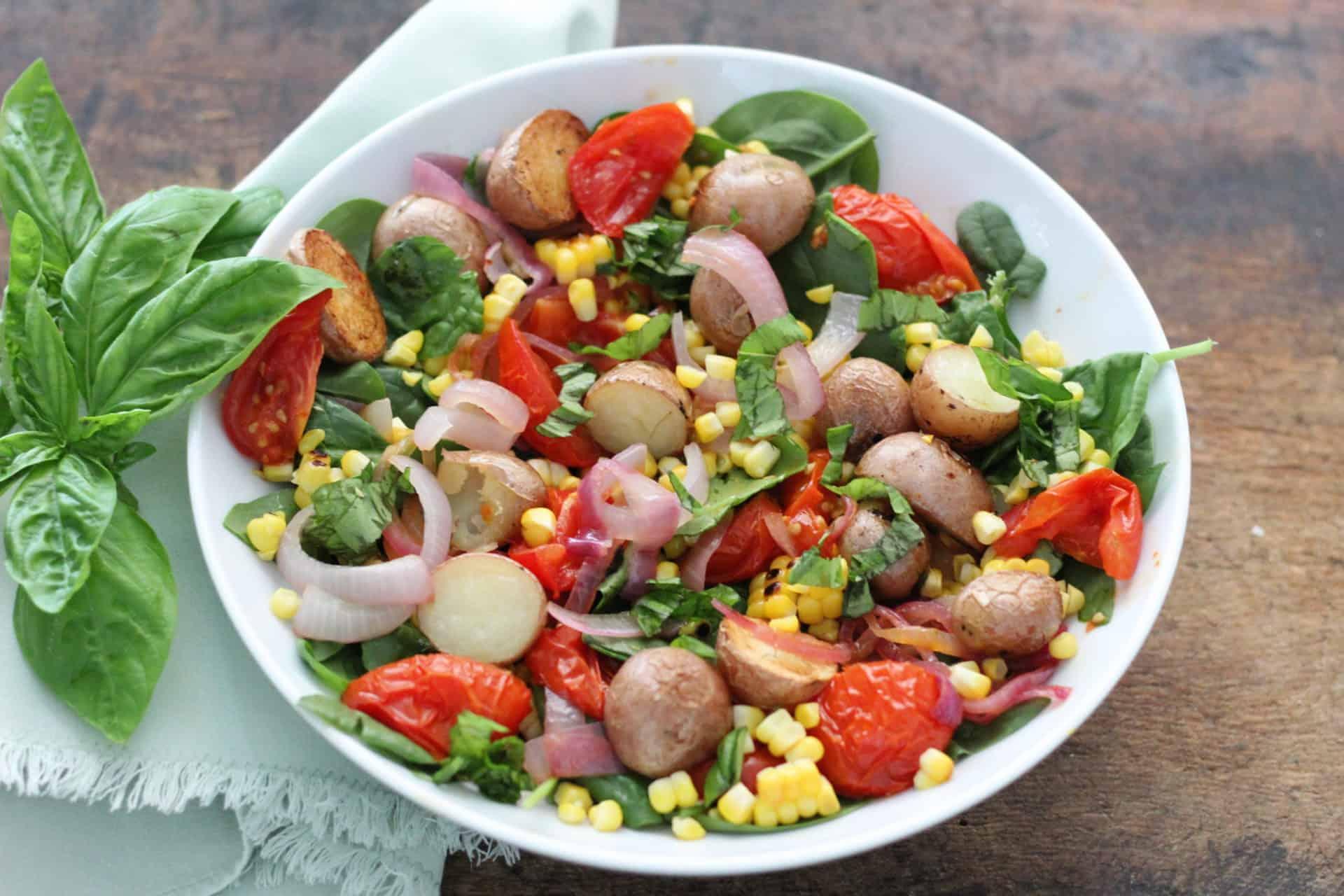Salads, Summer, Vegetarian, Gluten-Free, Quick & Easy, Potato Salad, Mediterranean, Mediterranean diet
