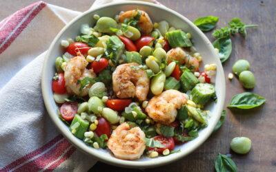 Grilled Shrimp and Succotash Bowl