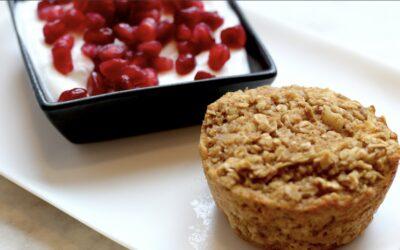 Baked Cinnamon Apple Oatmeal Muffins