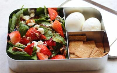 Strawberry Spinach Salad Bento