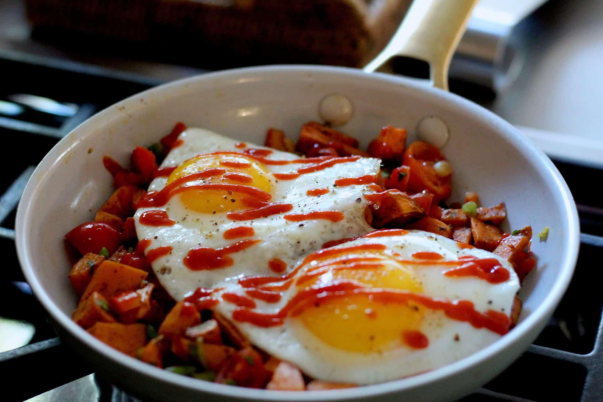 Breakfast, Eggs, Sweet Potato, Quick & easy, Fall, Mediterranean, Mediterranean diet
