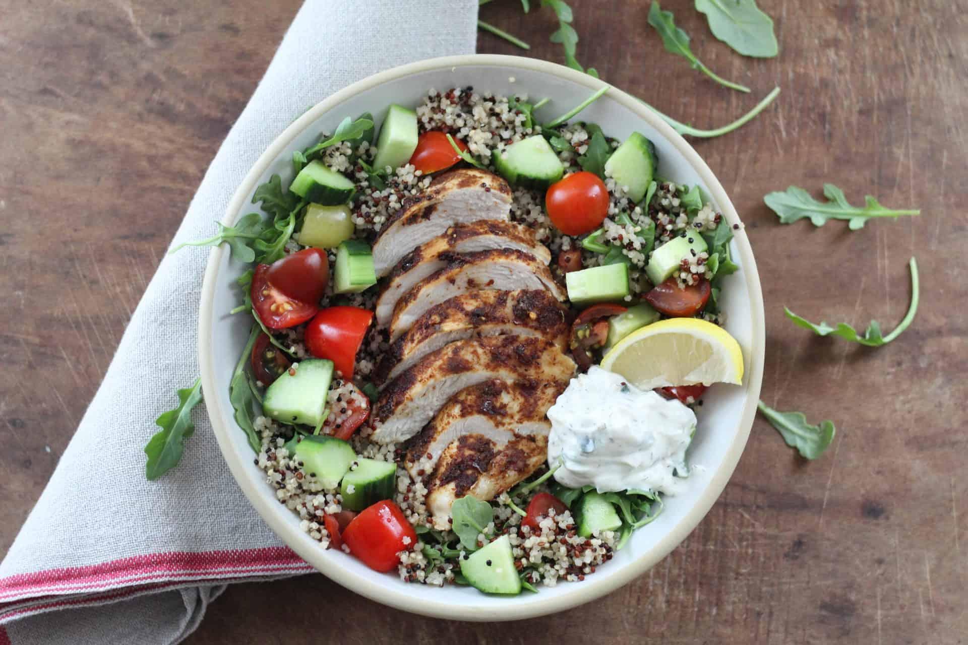 Harissa Chicken and Quinoa Bowl