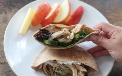 Harissa Chicken Pita